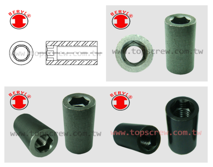 cylinder nut,barrel nut,square cylinder nut,cylinder nut with screw,nuts cylinder,top screw